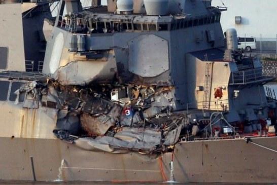 JAPON: Étrange Collision Entre Un Destroyer Américain Et Un Cargo Philippin