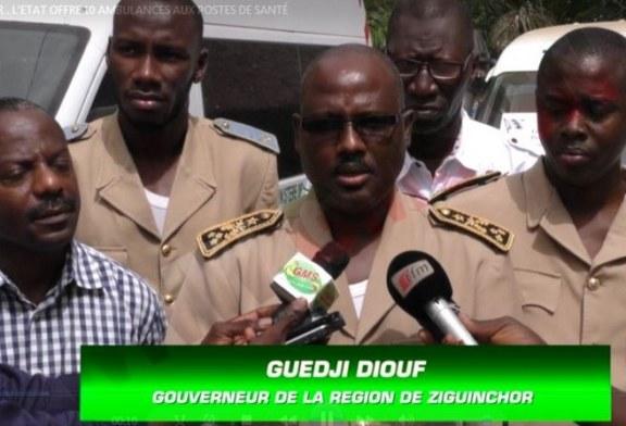 ZIGUINCHOR : L'état offre 10 ambulances aux postes de santé
