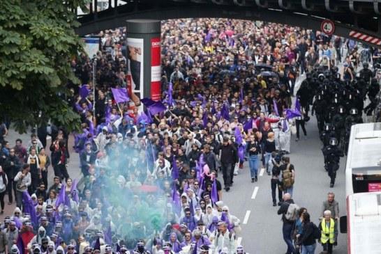G20: De nouveaux heurts ont éclaté juste avant le début du sommet de HAMBOURG