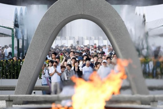 LE JAPON COMMEMORE LES 72 ANS du bombardement nucléaire d'Hiroshima