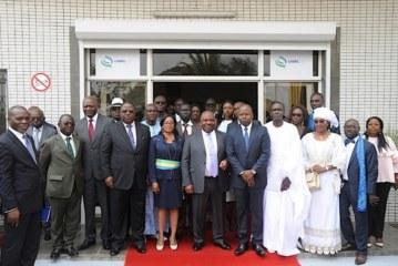 LE PRESIDENT DE LA REPUBLIQUE, Son Excellence Ali Bongo Ondimba, inaugure à Angondjé , de la chaîne de télévision panafricaine, Label TV