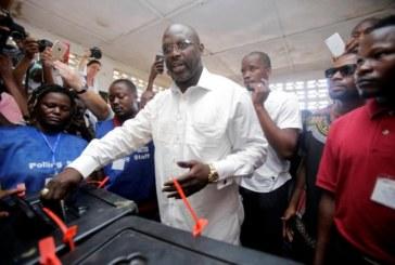 PRESIDENTIELLE AU LIBERIA : Des résultats partiels placent l'ancien footballeur George Weah en tête