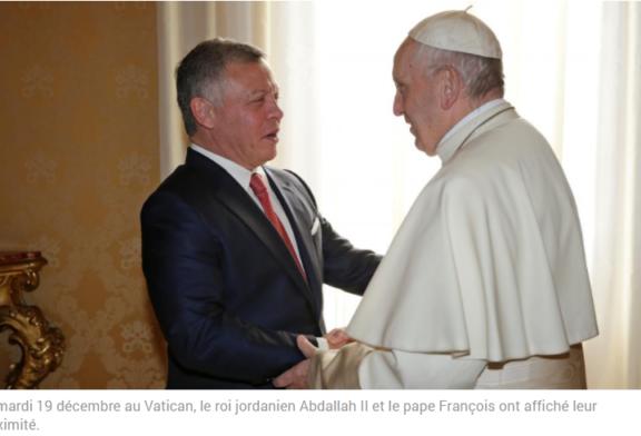 JÉRUSALEM: Abdallah II et le pape François au diapason