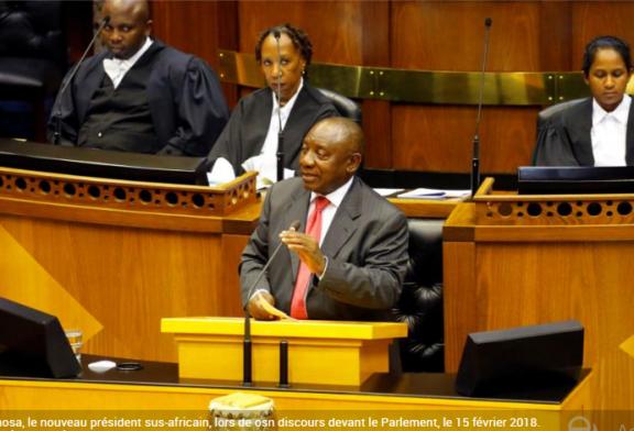 CYRIL RAMAPHOSA PREND Les rênes de l'Afrique du Sud après la démission de Zuma