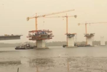 Les travaux du pont de FARAFEGNY avancent à grand pas