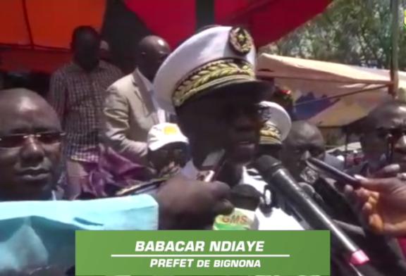 BIGNONA: Le préfet exhorte les populations au respect des forces de défense et de sécurité