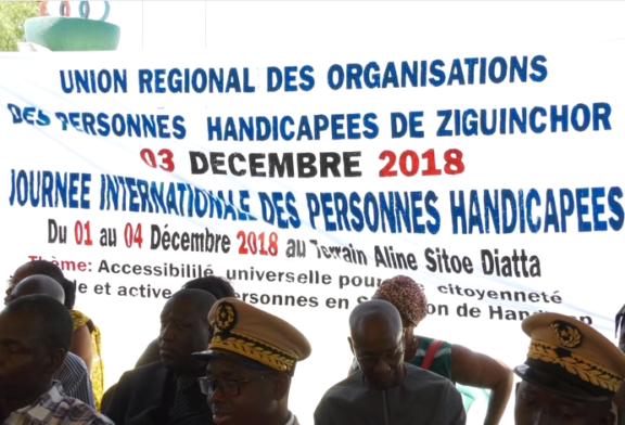 L'ADJOINT AU GOUVERNEUR DE ZIGUINCHOR Rassure les personnes handicapées de la région sud