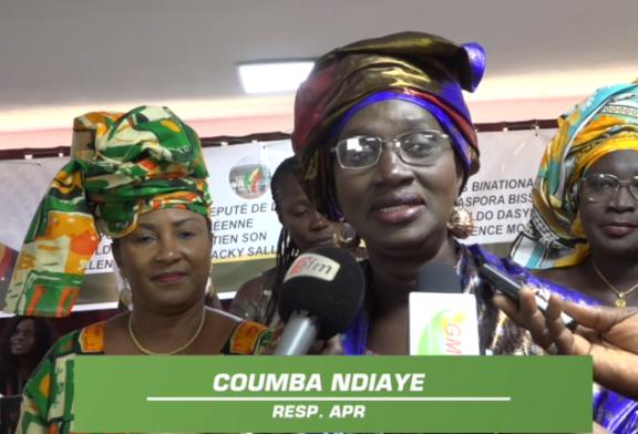 ZIGUINCHOR : Coumba Ndiaye salue l'engagement des binationaux Bissau guinéens pour la réélection de Macky Sall