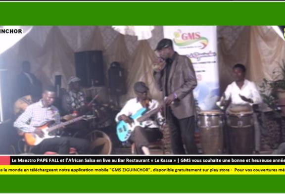 Le Maestro Pape Fall et l'African Salsa en live au Bar Restaurant « Le Kassa »