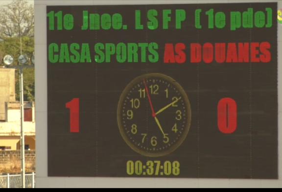 FOOTBALL LIGUE 1: (11e journée), le Casa Sport obtient sa troisième victoire d'affilée
