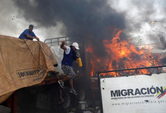 VIOLENCES Aux frontières du Venezuela où l'aide humanitaire tente de passer