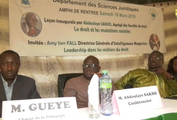 ZIGUINCHOR : Les nouveaux bacheliers intégrés au département des sciences juridiques de l'UASZ