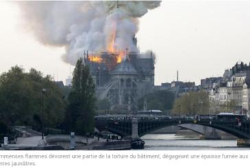 INCENDIE à la cathédrale Notre-Dame de Paris
