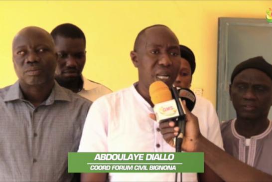 BIGNONA : Le forum civil plaide en faveur de la poursuite des efforts de désenclavement de Djibidione