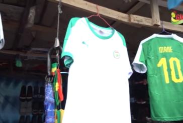 ZIGUINCHOR: Les maillots du Sénégal devenus intouchables dans le marché