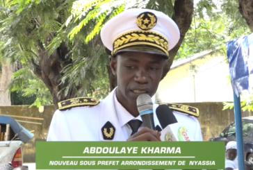 NYASSIA: ABDOULAYE KHARMA: '' Je m'engage à poursuivre les efforts de mon prédécesseur dans le strict respect des principes de l'état''