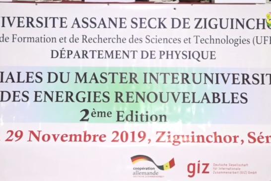 UASZ; Territoriales du master inter-universitairedes énergies renouvelables au menu des échanges