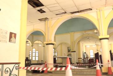 LE NONCE APOSTOLIQUE PRÉSENT A ZIGUINCHOR a constaté ce vendredi l'état catastrophique dans lequel se trouve la cathédrale Saint Antoine de Padoue